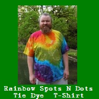 Rainbow Spots N Dots Tie Dye T-Shirt.