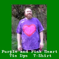 Purple and Pink Heart Tie Dye T-Shirt.