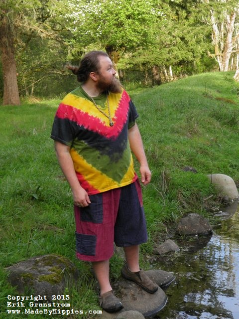 Rastaman V-Stripe Tie Dye T-Shirt.