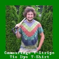 Camouflage V-Stripe Tie Dye T-Shirt.