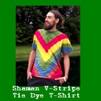 Shaman V-Stripe Tie Dye T-Shirt.