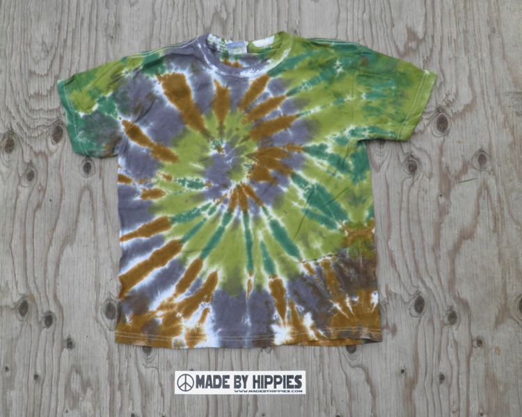 Camouflage Spiral Tie Dye Youth T-Shirt.