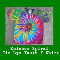 Rainbow Spiral Tie Dye Youth T-Shirt.