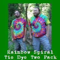 Rainbow Spiral Tie Dye T-Shirt Two Pack.
