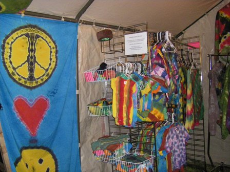 Made By Hippies Tie Dye Vending at the NW World Reggae Festival.