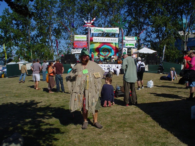 Strolling Vendor at Seattle Hempfest August 20th, 2005.